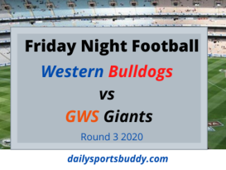 Friday Night Football - Bulldogs vs Giants