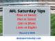 AFL Saturday Tips Round 3 2020