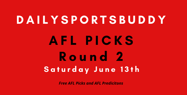 AFL Saturday Picks June 13th 2020