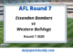 Bombers vs Bulldogs Round 7
