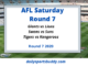 AFL Saturday Round 7 2020