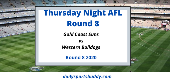 Thursday Night AFL Suns vs Bulldogs