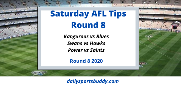 AFL Saturday Tips Round 8 2020