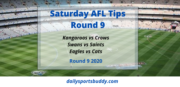 Saturday AFL Tips, Round 9