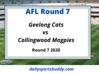 Geelong vs Collingwood Round 7 2020