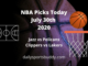 NBA Picks Restart July 30th