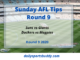 AFL Sunday Tips Round 9