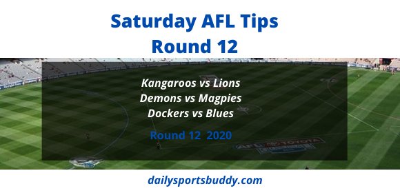 Saturday AFL Tips Round 12