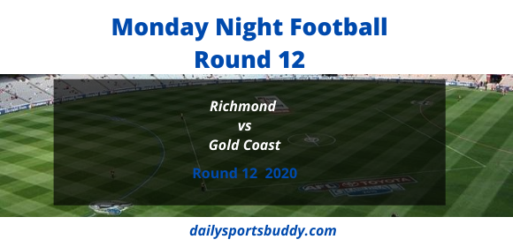 Richmond vs Gold Coast Round 12