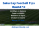 Saturday AFL Tips Round 13