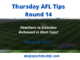 Thursday AFL Tips Round 14