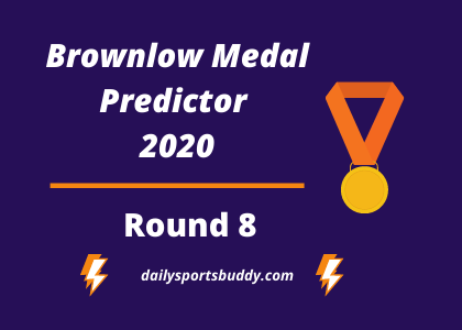 Brownlow Medal Predictor Round 8 2020