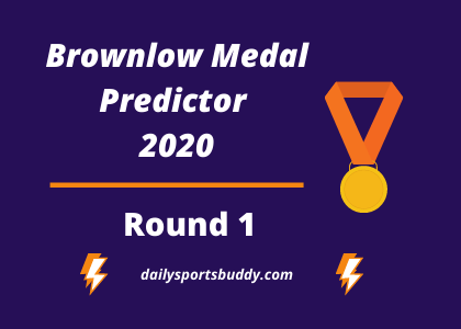 Brownlow Medal Predictor Round 1 2020