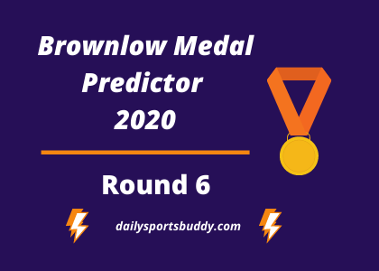 Brownlow Medal Predictor, Round 6 2020