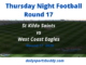 St Kilda vs West Coast, AFL Tips Round 17