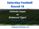 Adelaide vs Richmond, AFL Round 18