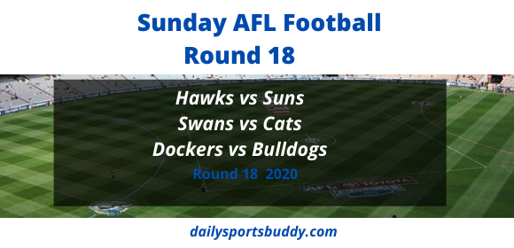 Sunday AFL Tips Round 18 2020