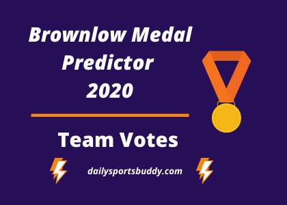 Brownlow Medal Predictor Team Votes 2020