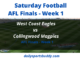 West Coast vs Collingwood Finals Week 1