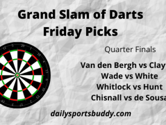 Grand Slam of Darts Friday Picks