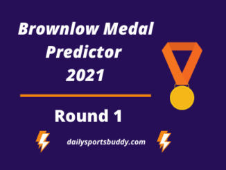 Brownlow Medal Predictor, Round 1 2021