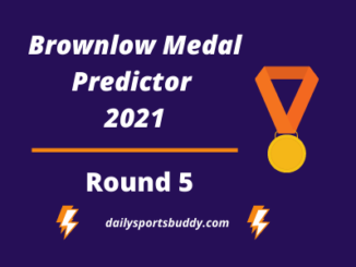 Brownlow Medal Predictor, Round 5 2021