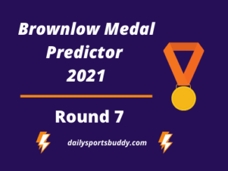 Brownlow Medal Predictor Round 7 2021