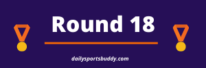 Brownlow Medal Predictor Round 18 2021