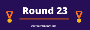 Brownlow Medal Predictor, Round 23 2021